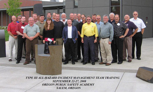 Type 3 All-Hazard Incident Management Team Training Group Photo 2008